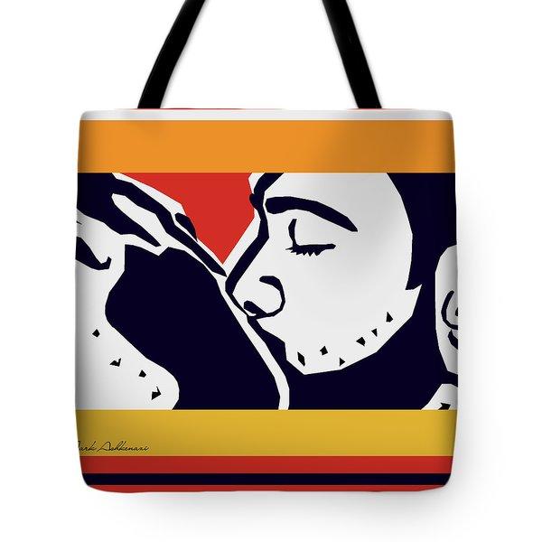 Kiss 2 Tote Bag by Mark Ashkenazi