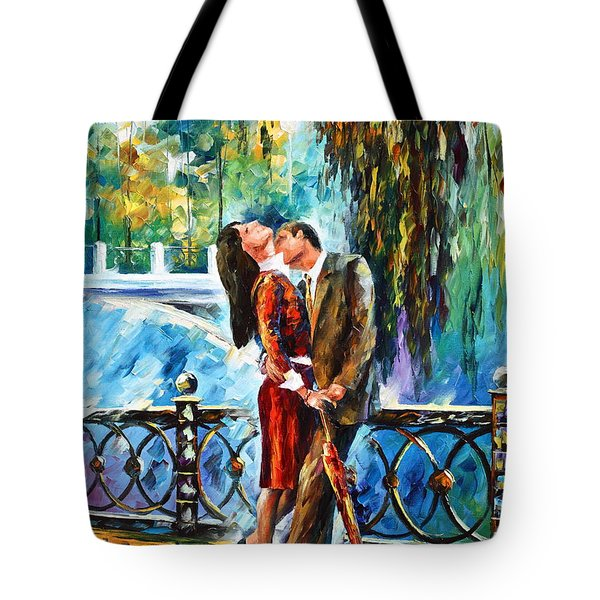 Kiss After The Rain New Tote Bag by Leonid Afremov