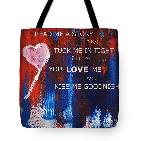 Kiss Me Goodnight Tote Bag by Andrea Anderegg