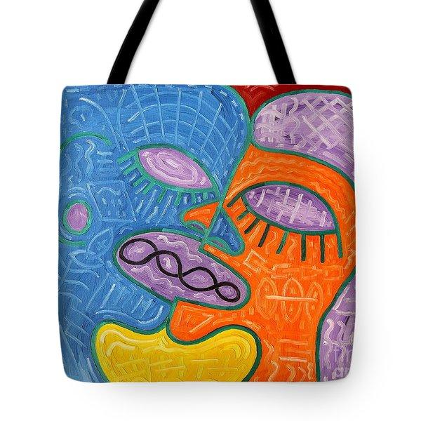 Kiss Tote Bag by Patrick J Murphy