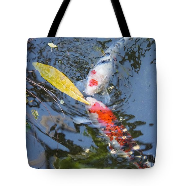 Kissin' Koi Tote Bag by HEVi FineArt