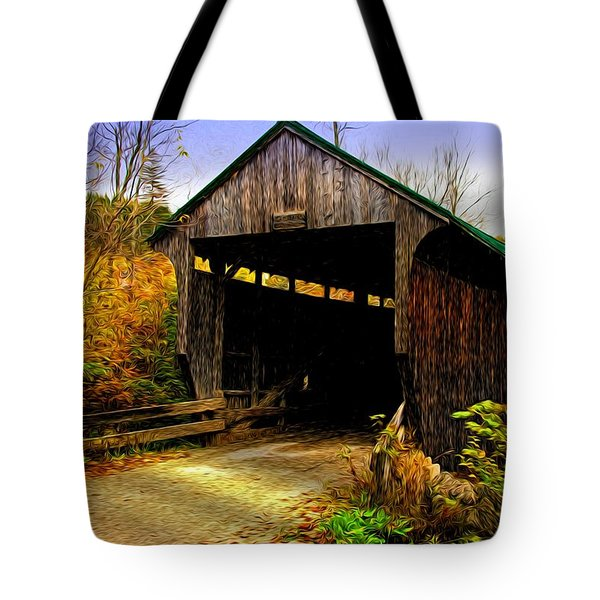Tote Bag featuring the photograph Kissing Bridge by Bill Howard