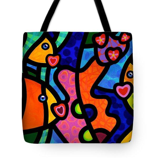 Kissing Fish Reef Tote Bag