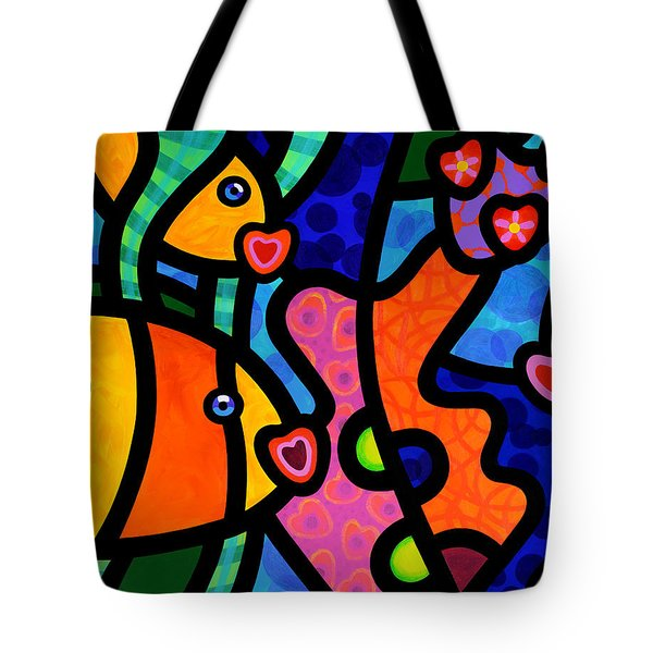 Kissing Fish Reef Tote Bag