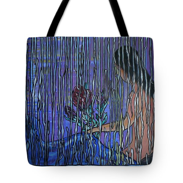 Kissing Rain Tote Bag
