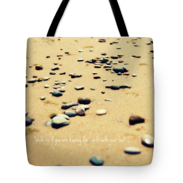 Kissing The Earth Tote Bag by Poetry and Art