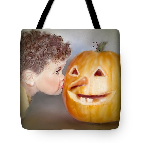 Kissy Face2 Tote Bag by Bonnie Willis