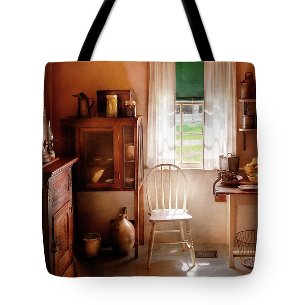 Kitchen - A Cottage Kitchen  Tote Bag by Mike Savad