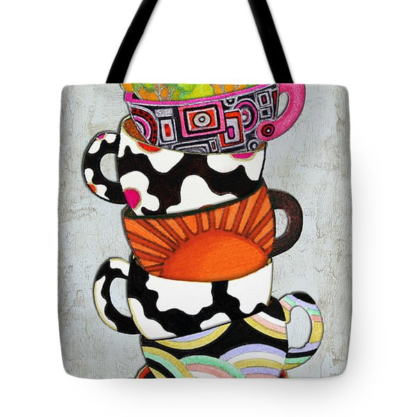 Kitchen Cuisine Stacked Hot Cuppa 1 By Romi And Megan Tote Bag