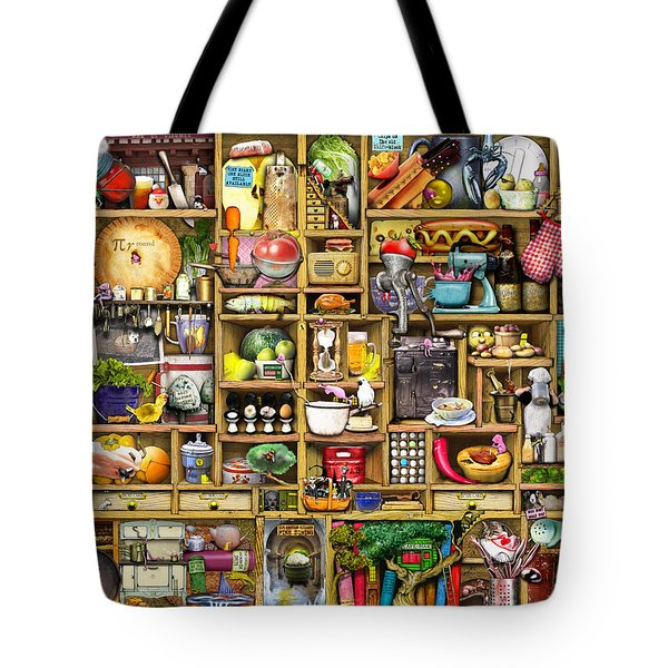 Kitchen Cupboard Tote Bag by Colin Thompson