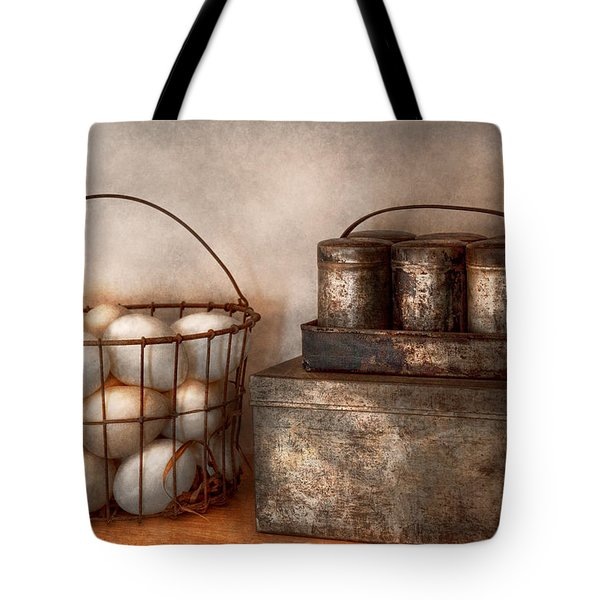 Kitchen - Food - Eggs - Fresh This Morning Tote Bag by Mike Savad