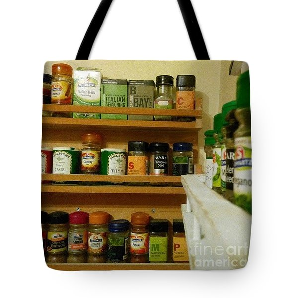 #kitchen #food #herbs And #spices Tote Bag by Isabella F Abbie Shores FRSA