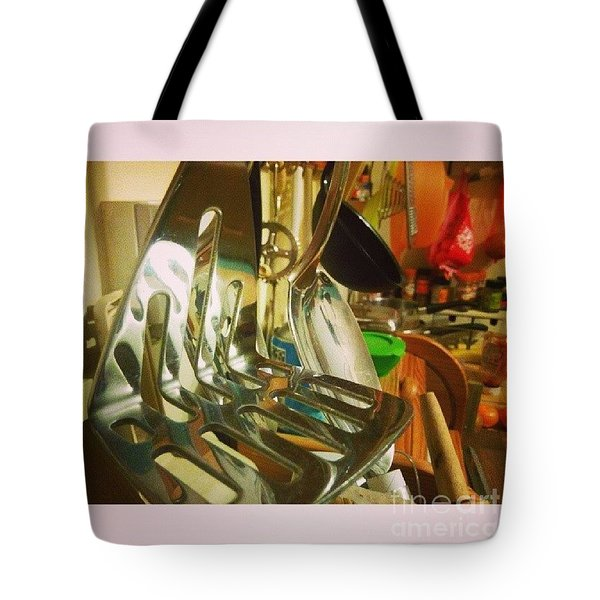 #kitchen #food Tote Bag by Isabella F Abbie Shores FRSA