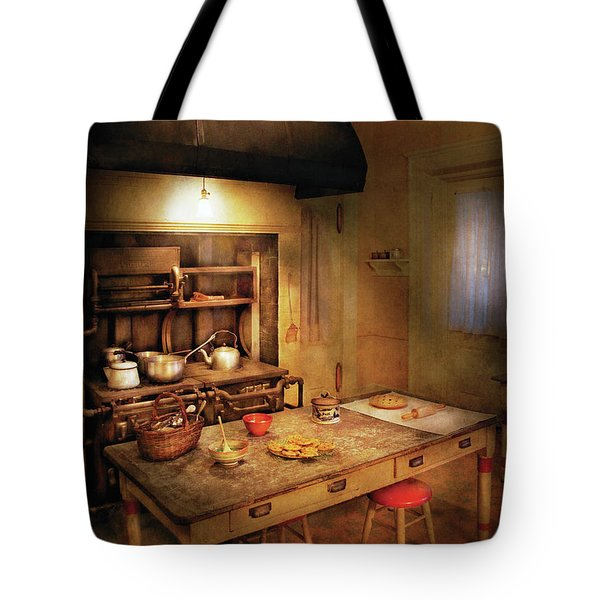 Kitchen - Granny's Stove Tote Bag by Mike Savad