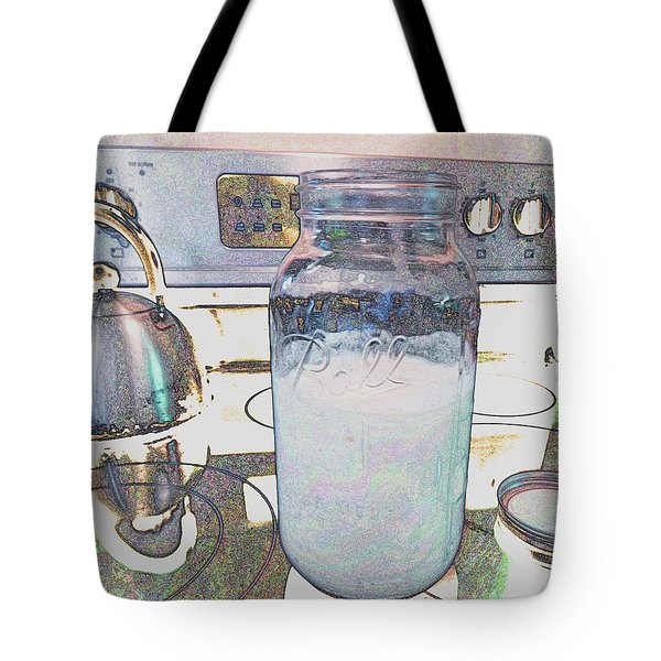 Tote Bag featuring the digital art Kitchen Life by Aliceann Carlton