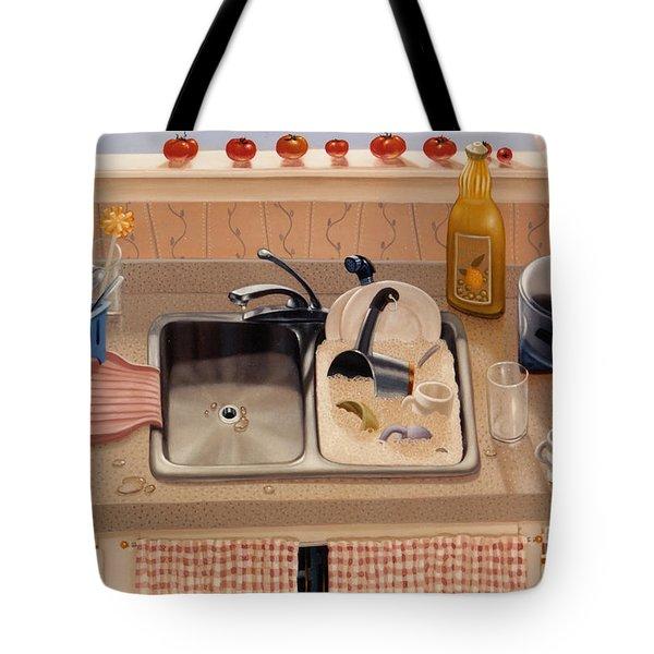 Kitchen Sink Bubba Lees 1997  Skewed Perspective Series 1991 - 2000 Tote Bag by Larry Preston