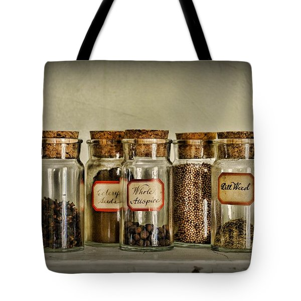 Kitchen Spices Colonial Era Tote Bag by Paul Ward
