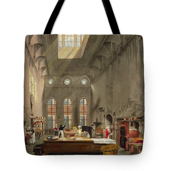 Kitchen, St. Jamess Palace, Engraved Tote Bag