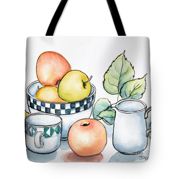 Kitchen Still Life Sketch Tote Bag by Inese Poga
