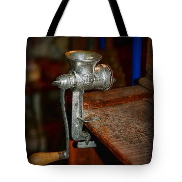 Kitchen - The Meat Grinder Tote Bag by Paul Ward