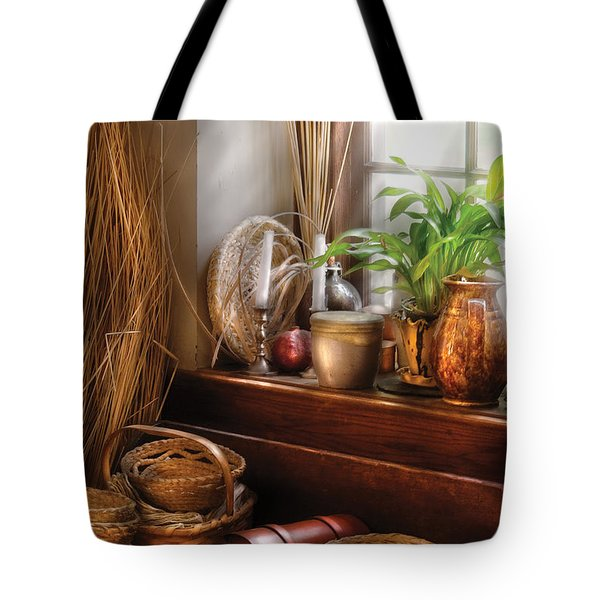 Kitchen - Try To Keep Busy  Tote Bag by Mike Savad