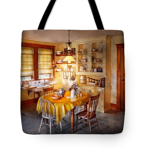 Kitchen - Typical Farm Kitchen  Tote Bag by Mike Savad