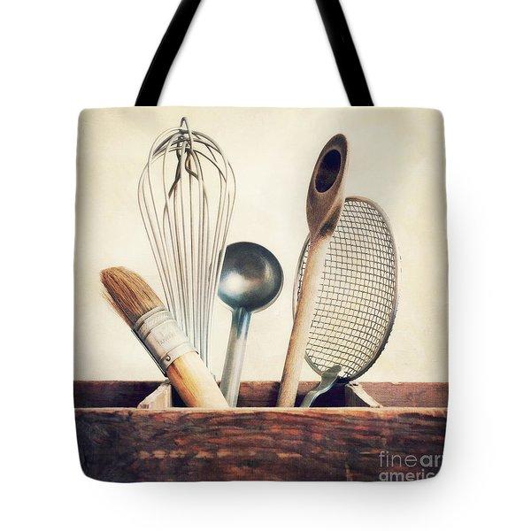 Kitchenware Tote Bag by Priska Wettstein