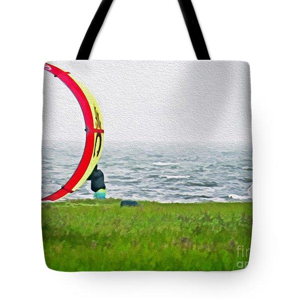 Kite Boarder Tote Bag