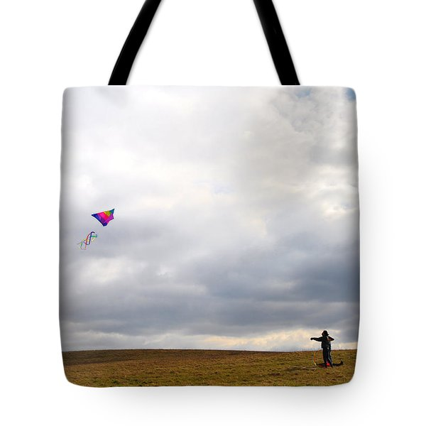 Kite Flying Tote Bag by Bill Cannon