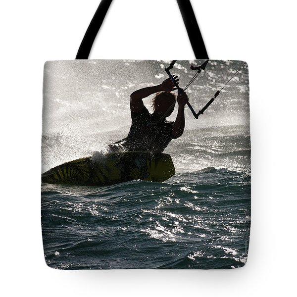 Kite Surfer 02 Tote Bag by Rick Piper Photography