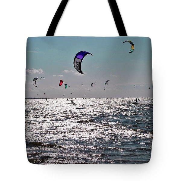 Kitesurfing Tote Bag by Maja Sokolowska