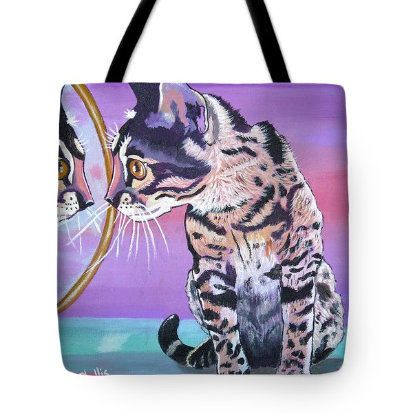 Tote Bag featuring the painting Kitten Image by Phyllis Kaltenbach
