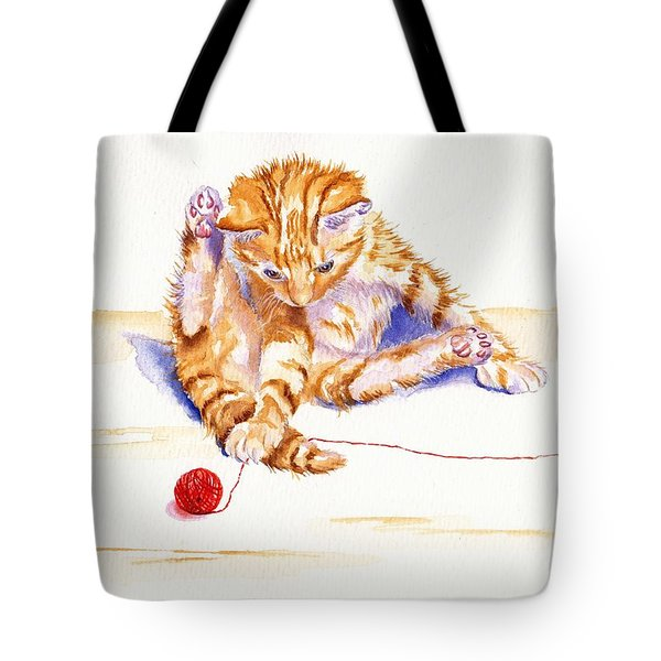 Kitten Interrupted Tote Bag