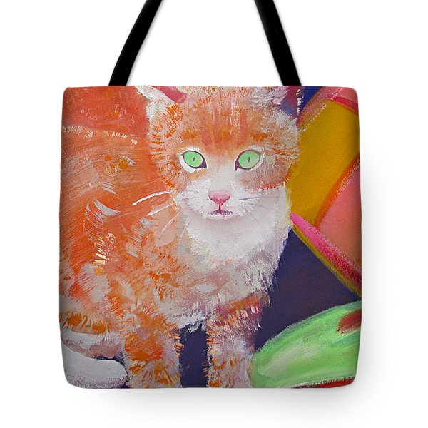 kittens With A Ball of Wool Tote Bag by Charles Stuart