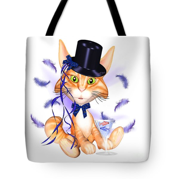 Kitticat Party Design Tote Bag by Renate Janssen