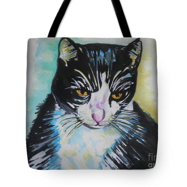 Kitty ..all Grown Up Tote Bag by Chrisann Ellis