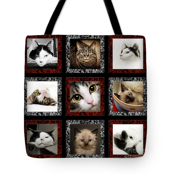Kitty Cat Tic Tac Toe Tote Bag