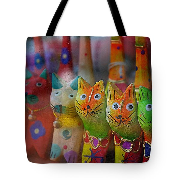 Tote Bag featuring the photograph Kitty Kitty  by John S