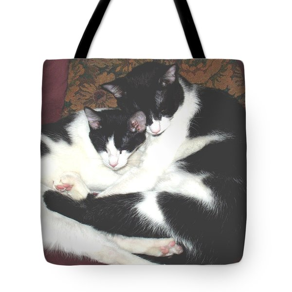 Kitty Love Tote Bag by Marna Edwards Flavell