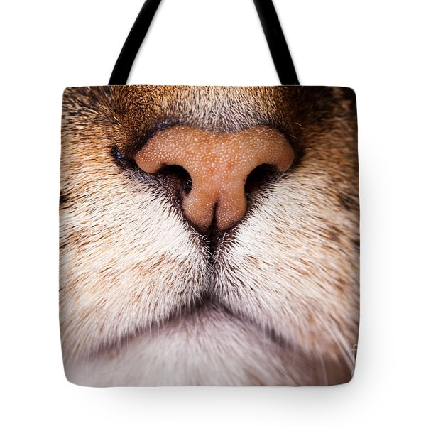 Kitty Nose  Tote Bag by Sharon Dominick