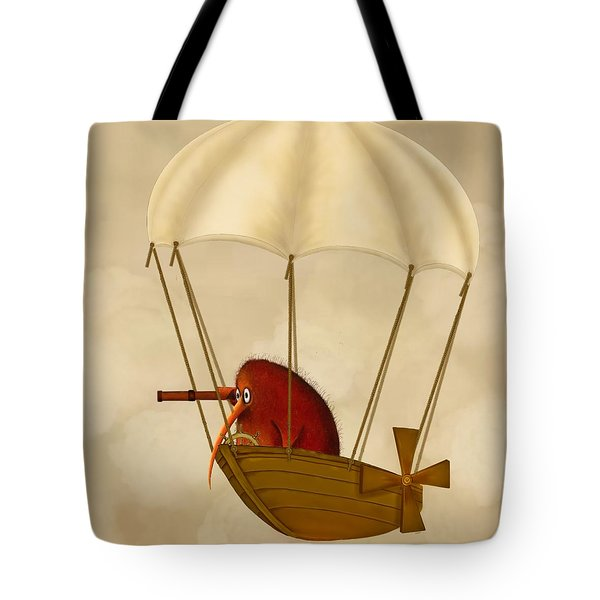 Kiwi Bird Kev's Airship Tote Bag