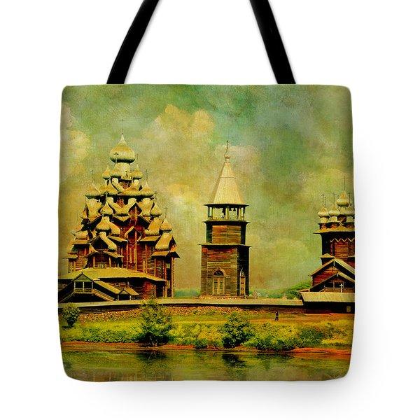 Kizhi Pogost Tote Bag by Catf
