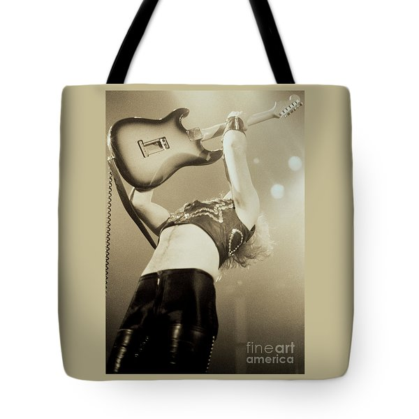 K K Downing Of Judas Priest At The Warfield Theater During British Steel Tour - Unreleased Tote Bag