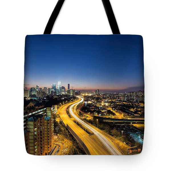 Kl At Blue Hour Tote Bag by David Gn