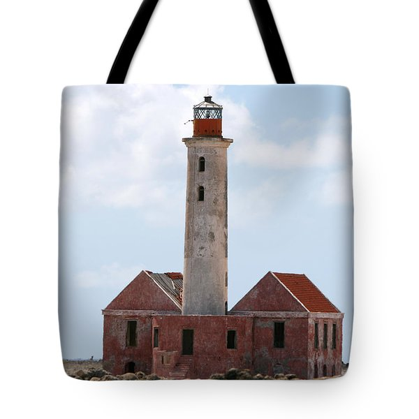 Tote Bag featuring the photograph Klein Curacao Lighthouse by David Millenheft