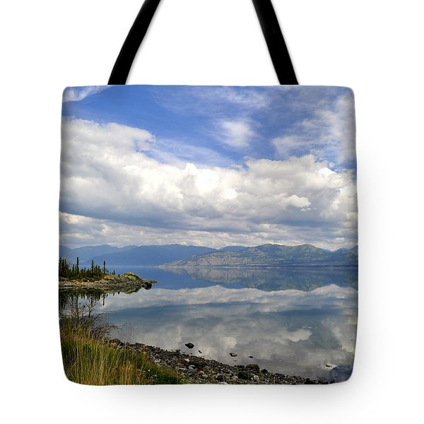 Tote Bag featuring the photograph Kluane Reflections by Cathy Mahnke