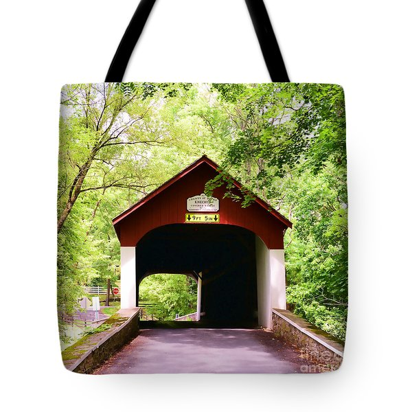 Knecht's Covered Bridge Tote Bag by Paul Ward