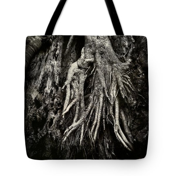 Kneeling At The Feet Of The Green Man Tote Bag