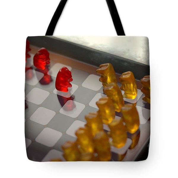 Knight Takes Pawn Tote Bag