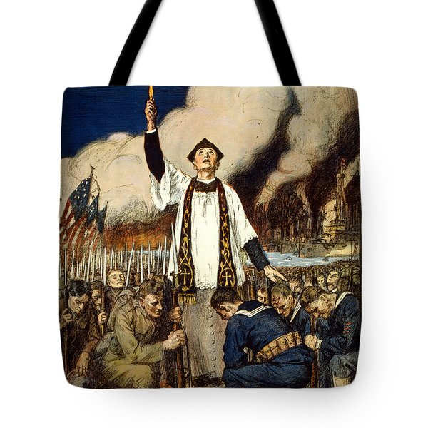 Knights Of Columbus, 1917 Tote Bag by William Balfour Kerr